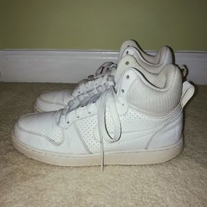 White Nike high tops